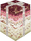 Burgundy & Blush; 24 Fat Quarters - Maywood Studio