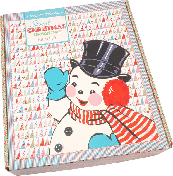 Sweet Christmas Snowman Quilt Kit by Urban Chiks; Moda Fabrics KIT31150