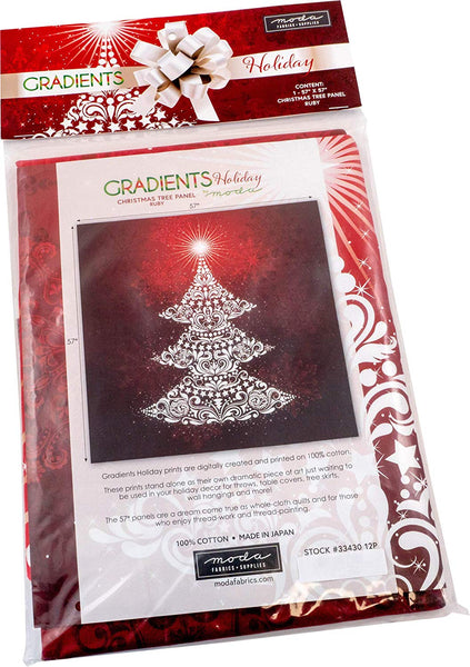 Gradients Holiday: Ruby; 1 60-inch by 60-inch Panel - Moda Fabrics