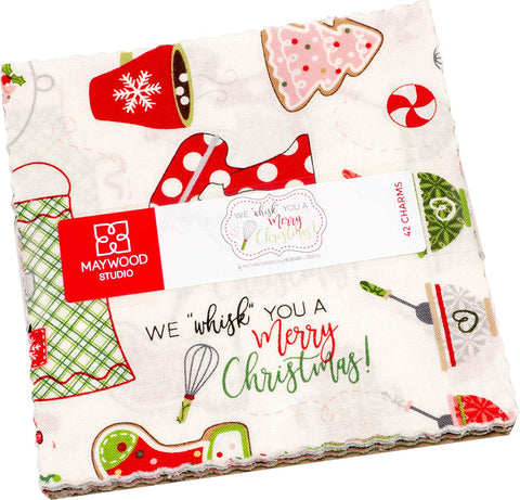 Maywood Studio We Whisk You a Merry Christmas! Charm Pack 42 5-inch Squares by Kim Christopherson CP-MASWYMC