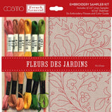 French General Fleurs De Jardins Embroidery Sampler Kit for Moda Fabrics
