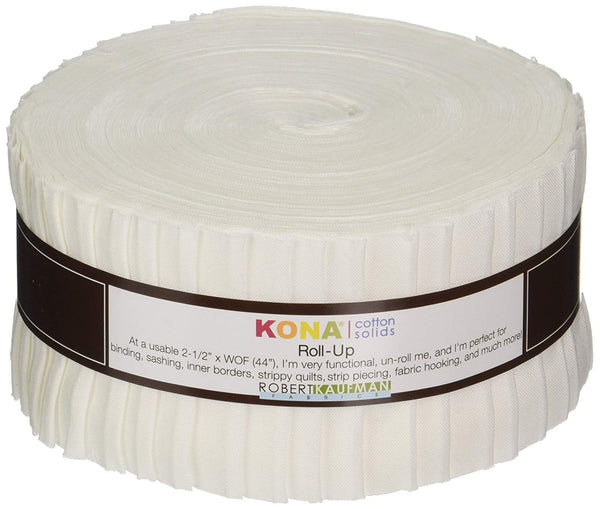 Robert Kaufman RU-190-40 Strips, 2.5-inch, White