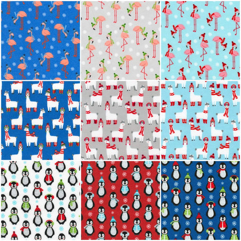 Bundled Buddies Flannel by Andie Hanna; 9 Fat Quarters - Robert Kaufman
