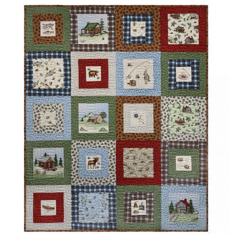 Cozy Cabin Quilt Kit by Kris Lammers for Maywood Studio