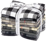 Mammoth Flannel - Black by Studio RK; 10 Fat Quarters - Robert Kaufman Fabrics