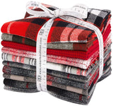 Mammoth Flannel -Red by Studio RK; 10 Fat Quarters Robert Kaufman Fabrics