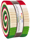 "Kona Cotton Solids: Holiday Roll Up; 2.5"" Strips -Robert Kaufman"