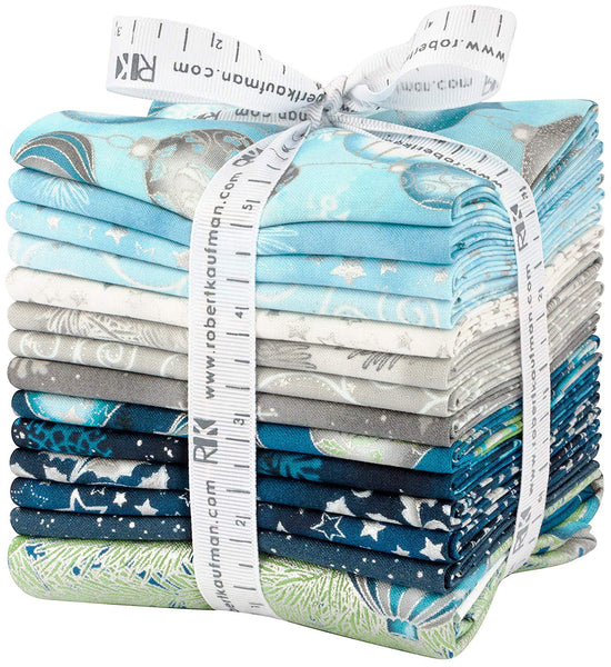 Winter's Grandeur 7 - Sky by Studio RK:  13 Fat Quarters & 1 Panel - Robert Kaufman Fabrics