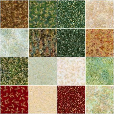 Artisan Batiks: Northwoods 8 - Forest Roll Up by Lunn Studios; 40 2.5-inch Strips - Robert Kaufman