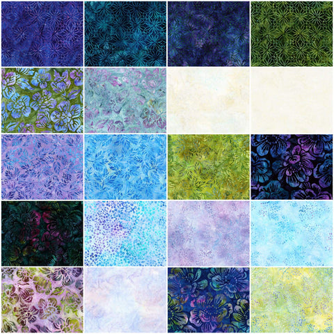 Artisan Batiks Greenhouse 4 by Lunn Studios; 20 Fat Quarters - Robert Kaufman Fabrics