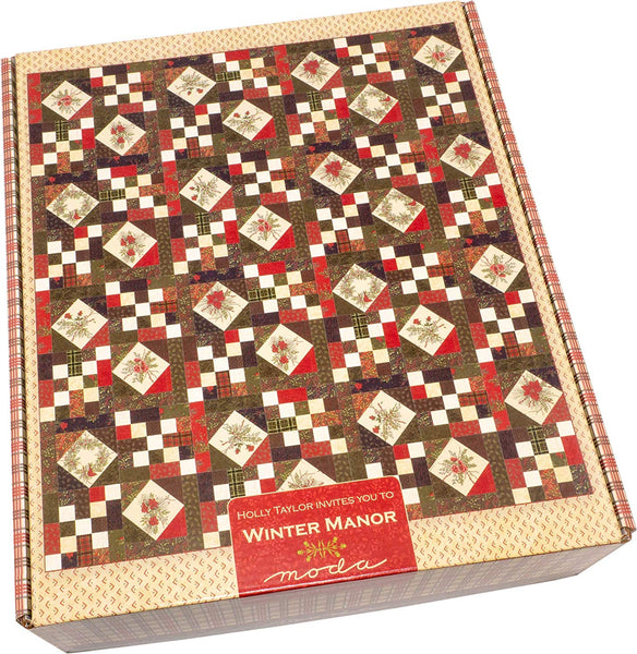 Winter Manor Quilt Kit by Holly Taylor; Moda Fabrics KIT6770
