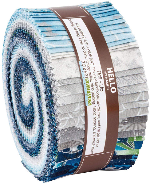 Winter's Grandeur 7: Sky Roll Up by Studio RK: 40 2.5-inch Strips - Robert Kaufman