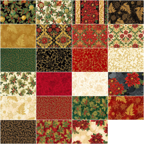 Holiday Flourish 12: Holiday by Peggy Toole; 23 Fat Quarters & 1 Panel - Robert Kaufman
