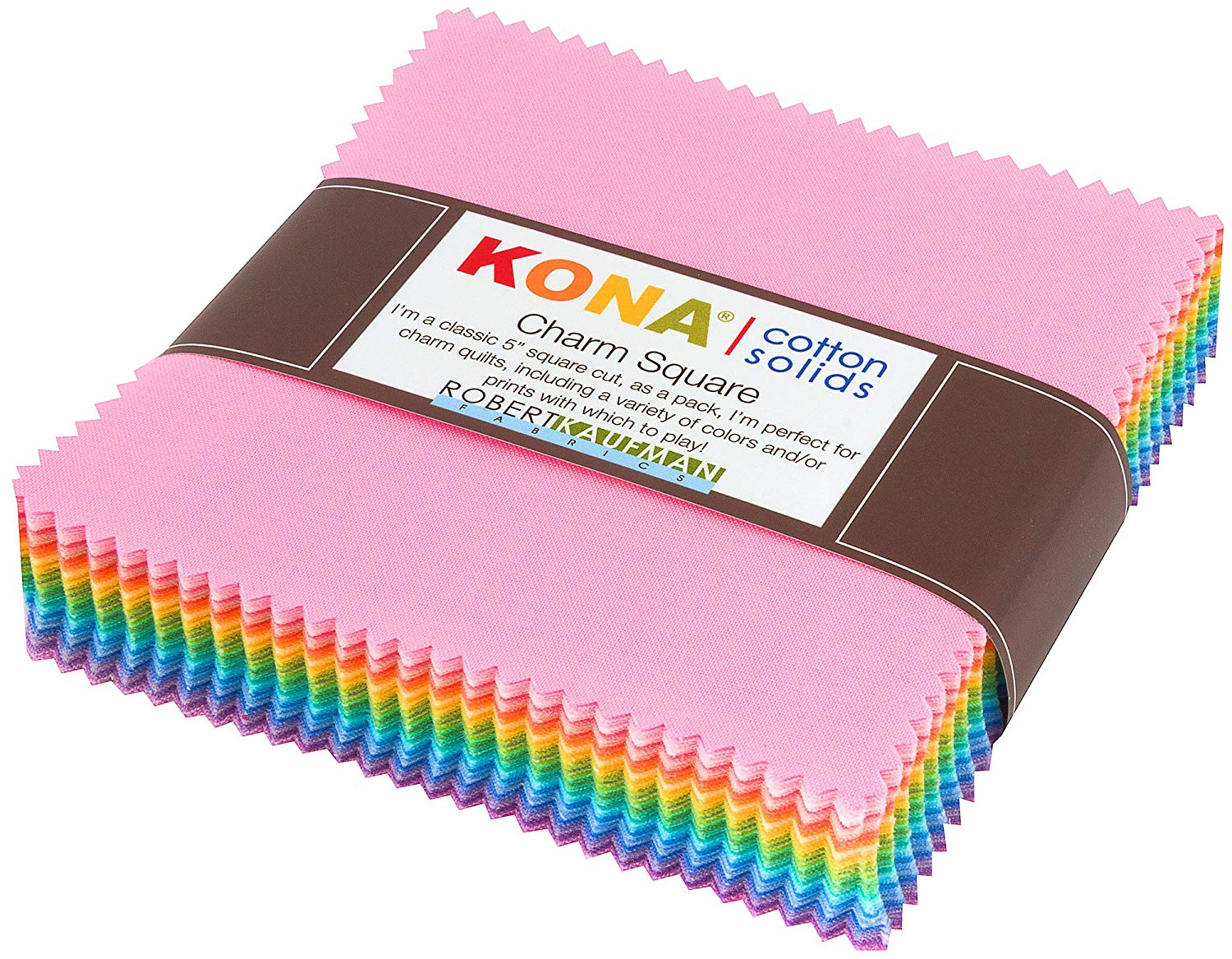"Kona Cotton Solids: Pastel Charm Square; 85 5"" Squares - Robert Kaufman"