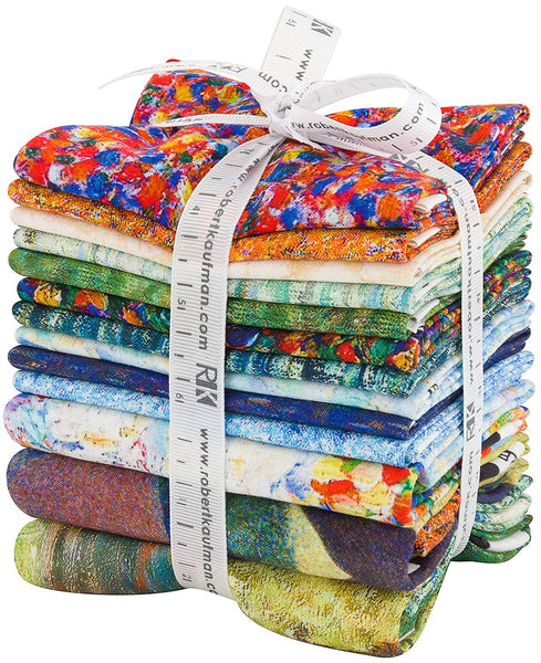 Seurat by Studio RK; 10 Fat Quarters  & 3 Panels - Robert Kaufman Fabrics