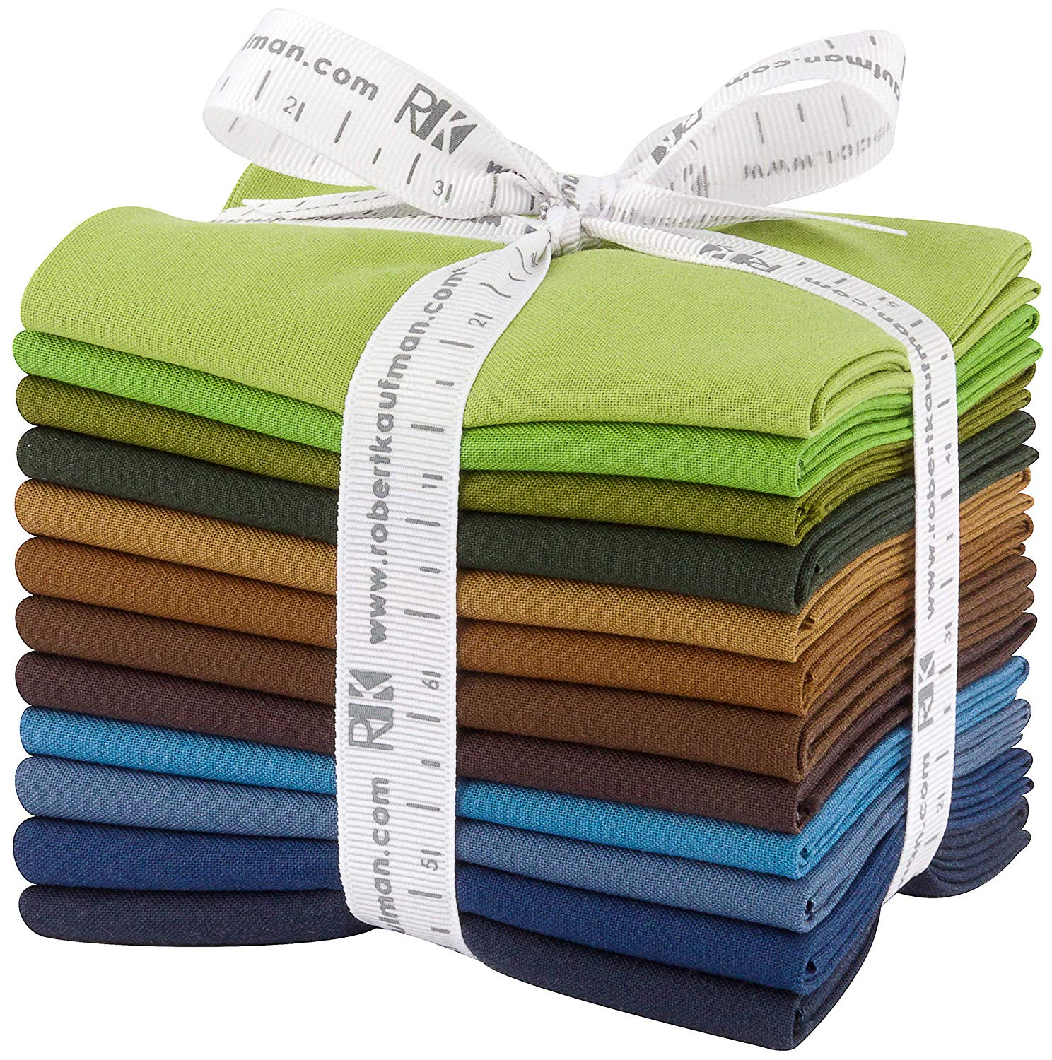 Kona Cotton Solids: Adventure; 12 Fat Quarter Bundle - Robert Kaufman