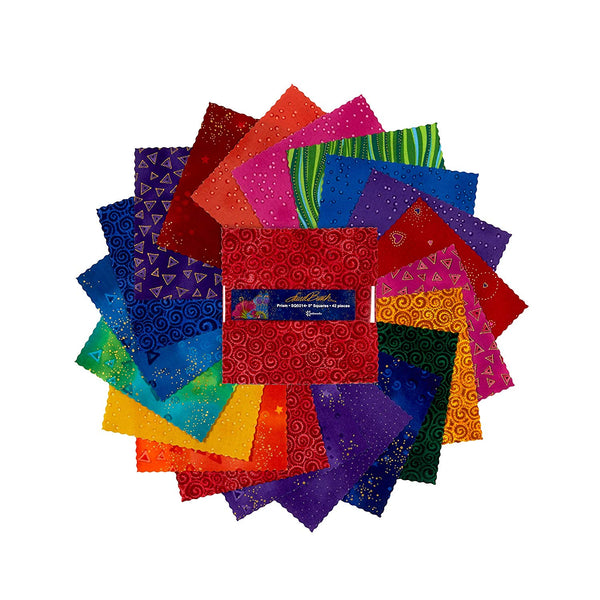 Basics: Prism by Laurel Burch(LB); 42 5'' Squares - Metallic - Clothworks