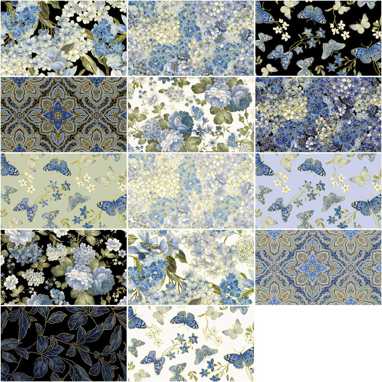 Kanvas Blue Symphony Strip-pies by Kanvas Studio; 40 2.5'' Strips - Benartex