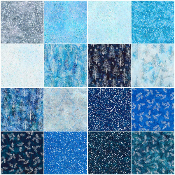 Artisan Batiks: Northwoods 8 - Evening Roll Up by Lunn Studios: 40 2.5-inch Strips - Robert Kaufman