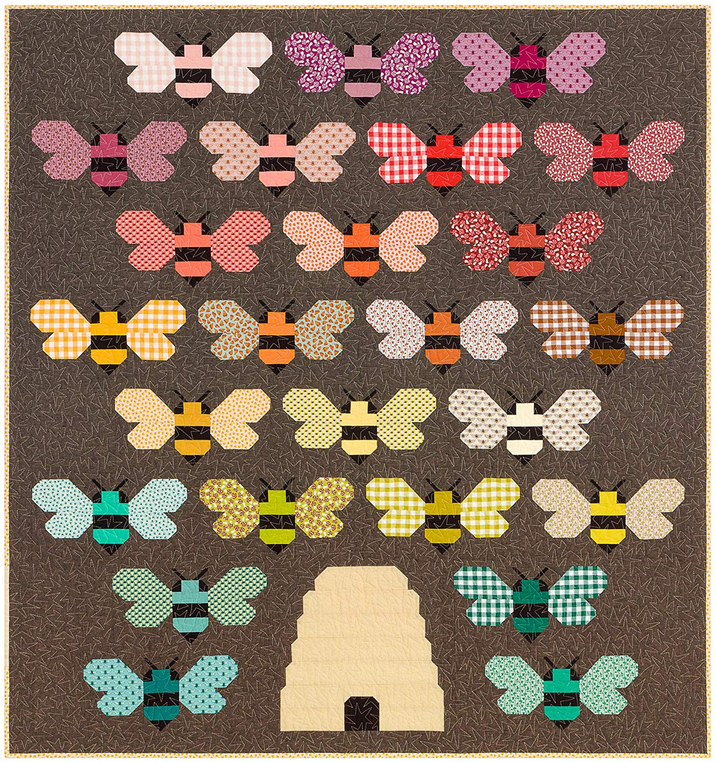 Berry Season Beehive Quilt Kit by Elizabeth Hartman for Robert Kaufman