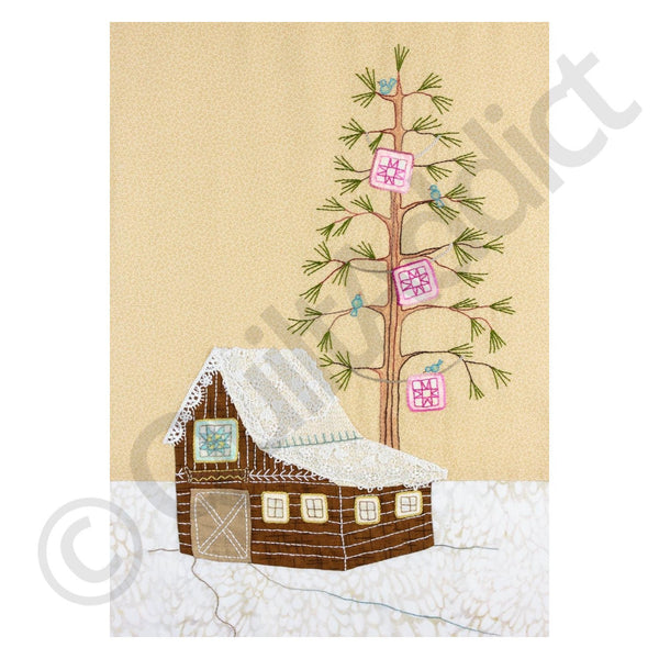 Crabapple Hill Studio - Lace Cabins - Quilt Blocks + Instructions