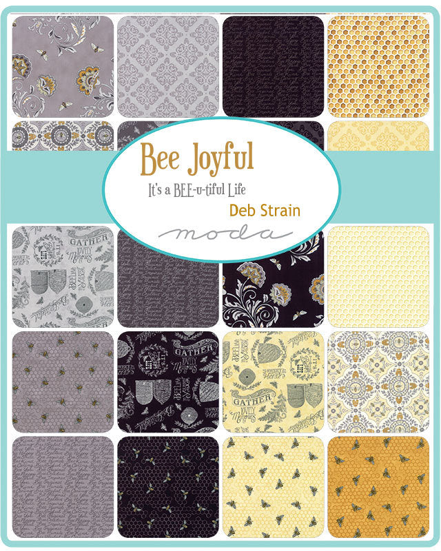 Bee Joyful by Deb Strain; 26 Fat Quarters & 1 Panel - Moda Fabrics