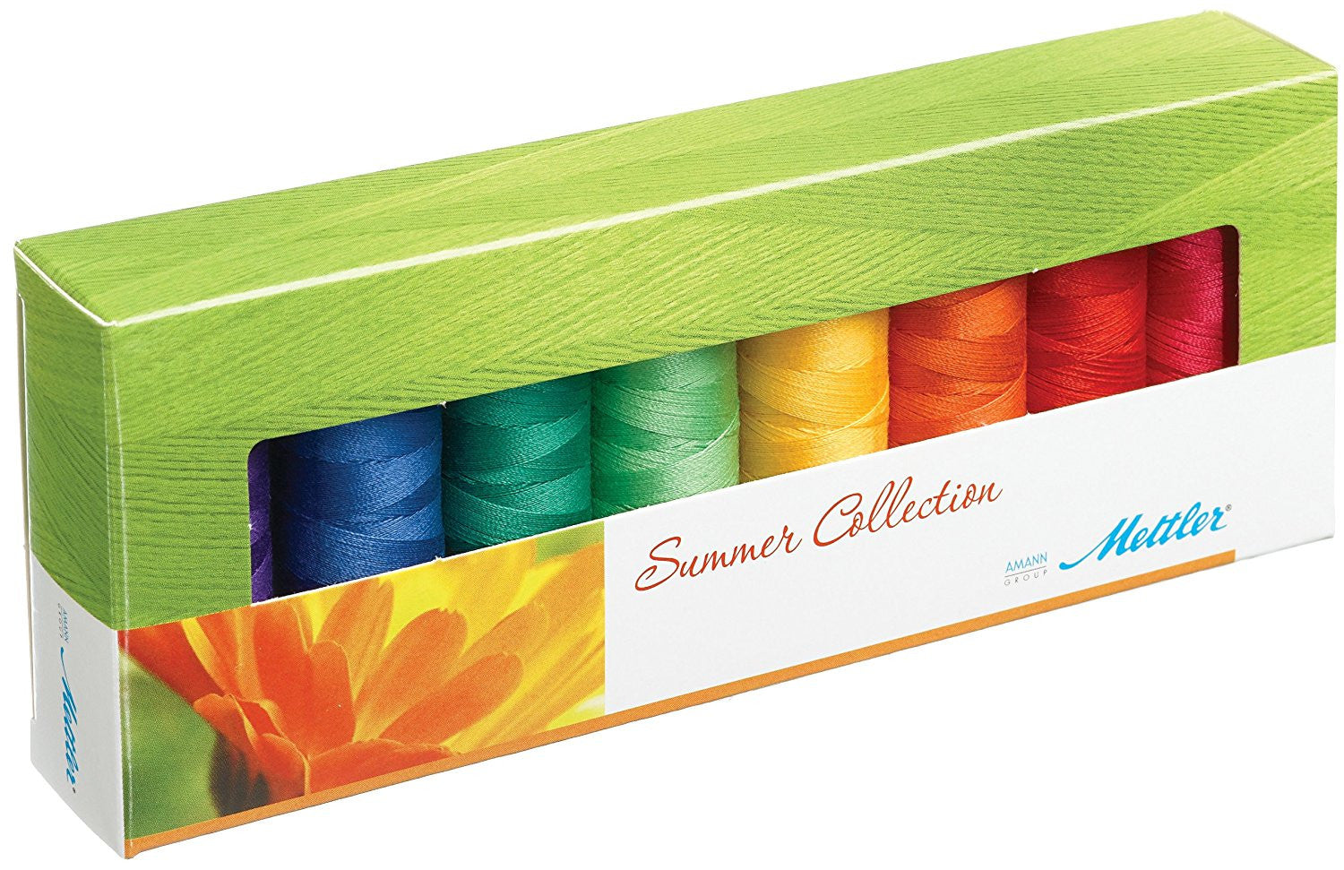 Mettler - Summer Collection Thread Set - 8 Spools / 1500yds Each