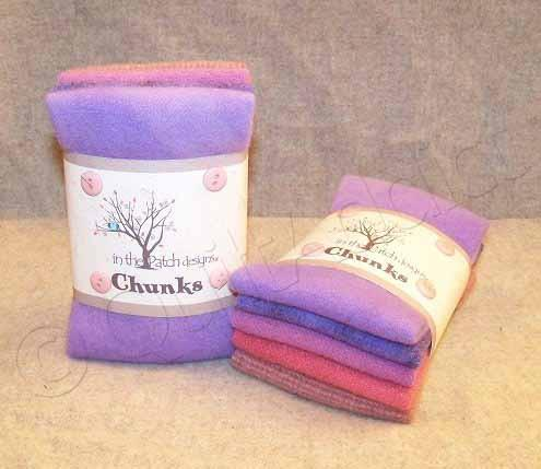 Girly Wool Chunks, 5pcs.