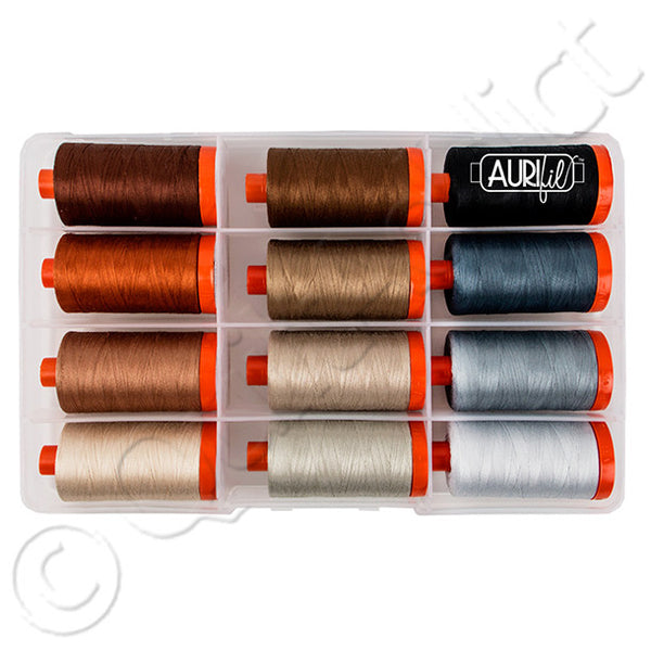 Aurifil - 12 Spools - Perfect Box of Neutrals by Pat Sloan