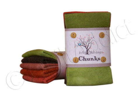 Punkin Wool Chunks, 5pcs.