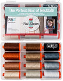 Aurifil - Perfect Box of Neutrals by Pat Sloan - 12 Spools