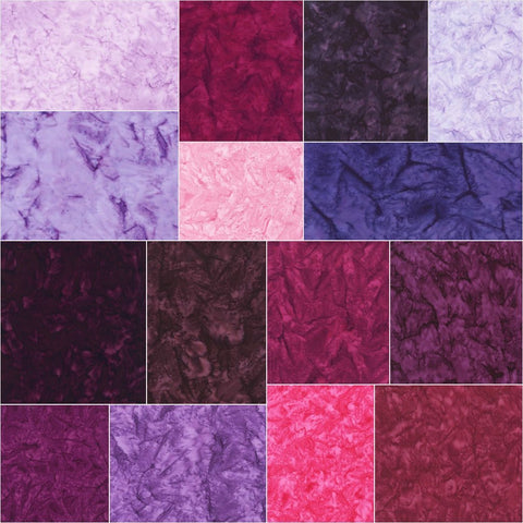 Prisma Dyes: Plum Perfect Batiks Roll Up by Lunn Studios; 2.5