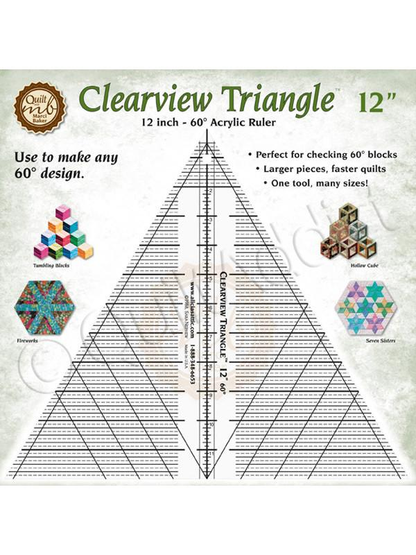 Clearview Triangle Ruler 12 Inches