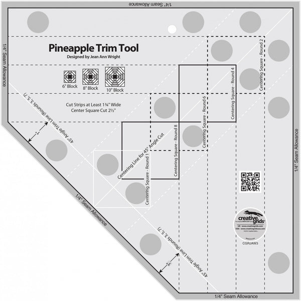 "Creative Grids - 6"", 8"", or 10"" Pineapple Ruler, CGRJAW3"