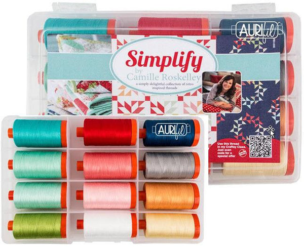 Aurifil Thread Set - Simplify by Camille Roskelley - 12 Spools