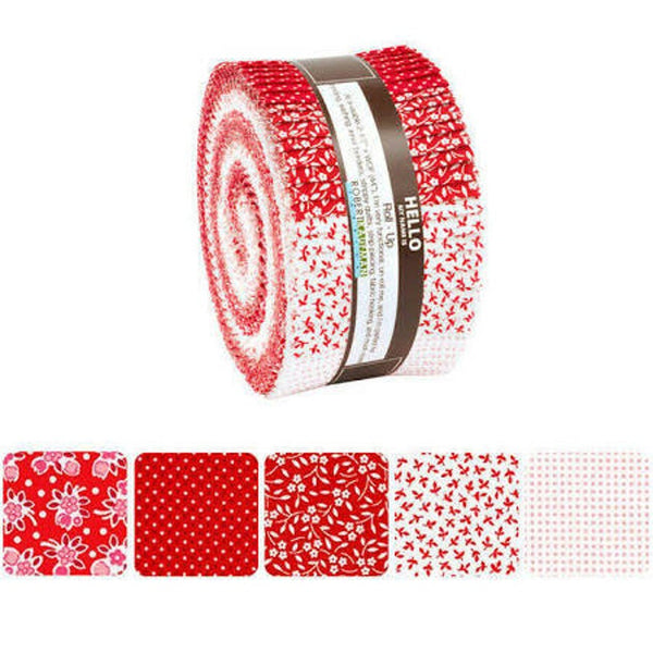 Southern Belles Redwork Roll Up by Darlene Zimmerman; 40 2.5-inch Strips - Robert Kaufman