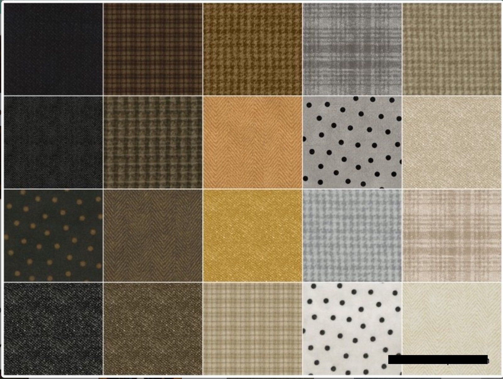 Woolies Flannel-Neutrals; 40 2.5 inch Strips. - Maywood Studio