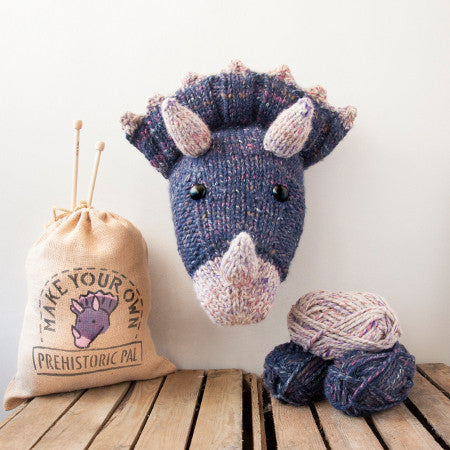 Sincerely Louise - Faux Purple Triceratops Knitting Kit