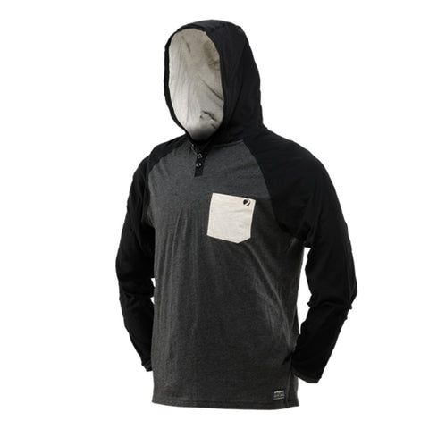 Coba Hood Shirt - Heather Gray / Black