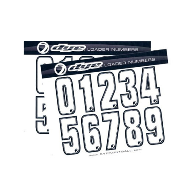 DYE Loader Number Sticker