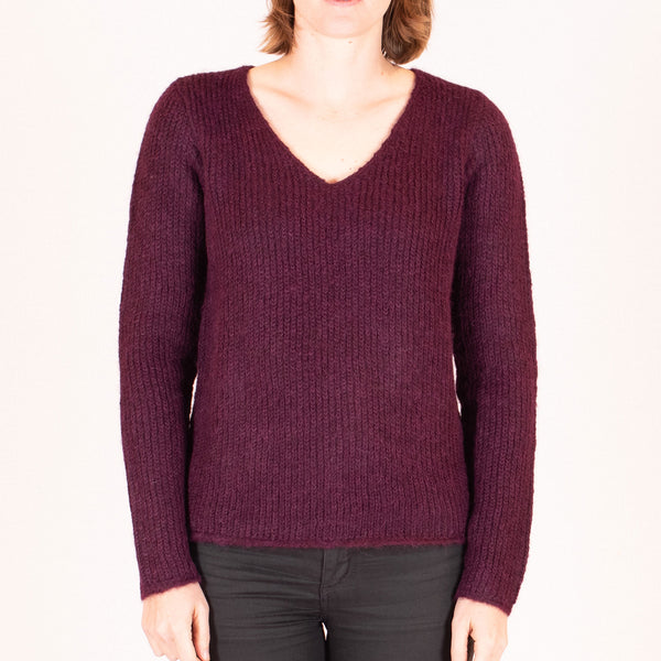 V-Neck Alpaca Jumper