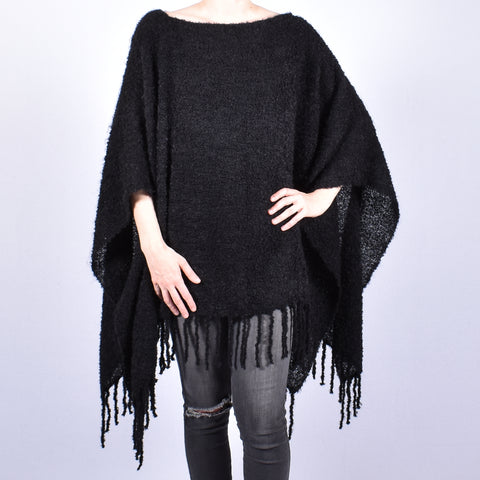 Classic Boucle Poncho