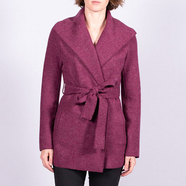Felted Wrap Coat