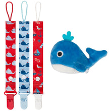 Moskka 4-in-1 Pacifier Clips & Antibacterial Pacifier Holder-Whale - Moskka