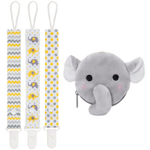 Moskka 4-in-1 Pacifier Clips & Antibacterial Pacifier Holder-Elephant - Moskka