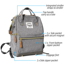 Moskka Adventure Diaper Backpack -Mysterious Grey - Moskka