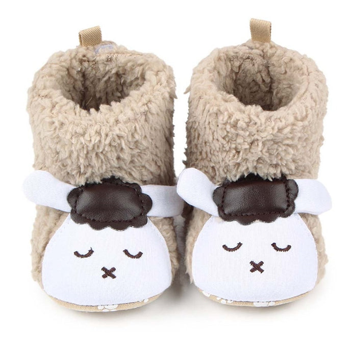 Baby Shoes Booties Winter Cute Lamb Animal Baby Girls Shoes Fleece Warm Toddler Moccasins Boots Footwear 6 Colors