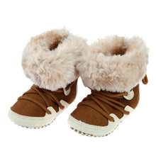 Fashion Baby Booties  Newborn Cotton Soft Winter Boy Girls Baby Shoes High-top Warm Fleece Boots Keep Warm Footwears