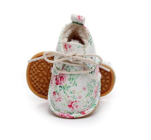 PU leather with fur winter baby shoes lace up floral printing baby moccasins toddler girls boys snow boots