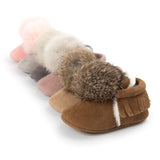 Lined Fur Ball Moccasin First Walkers